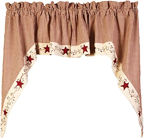 Star and Berry Curtain Design