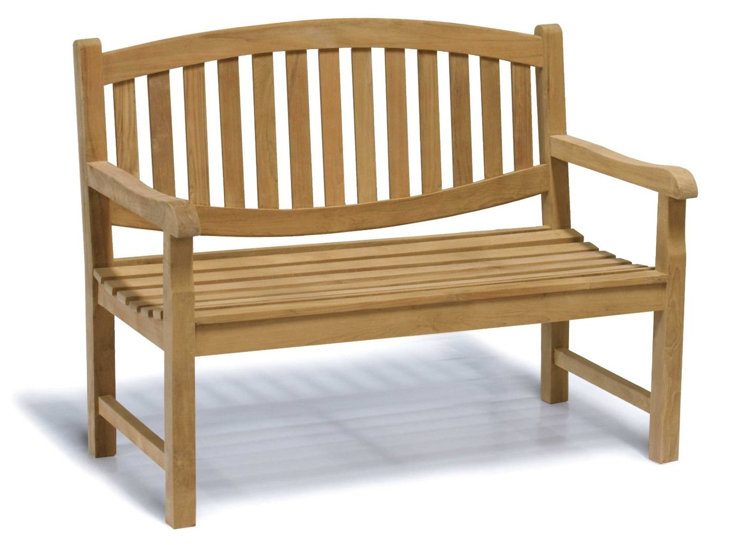 Jati Kennington Oval Teak 2 Seater Garden Bench - 4ft Garden Bench ...