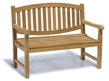 Jati Kennington Oval Teak 2 Seater Garden Bench 4ft Garden Bench