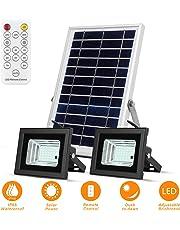 Luces Solares de Inundación con Paneles Solares de 19x 29cm 42 LED Impermeables para Iluminación Solar
