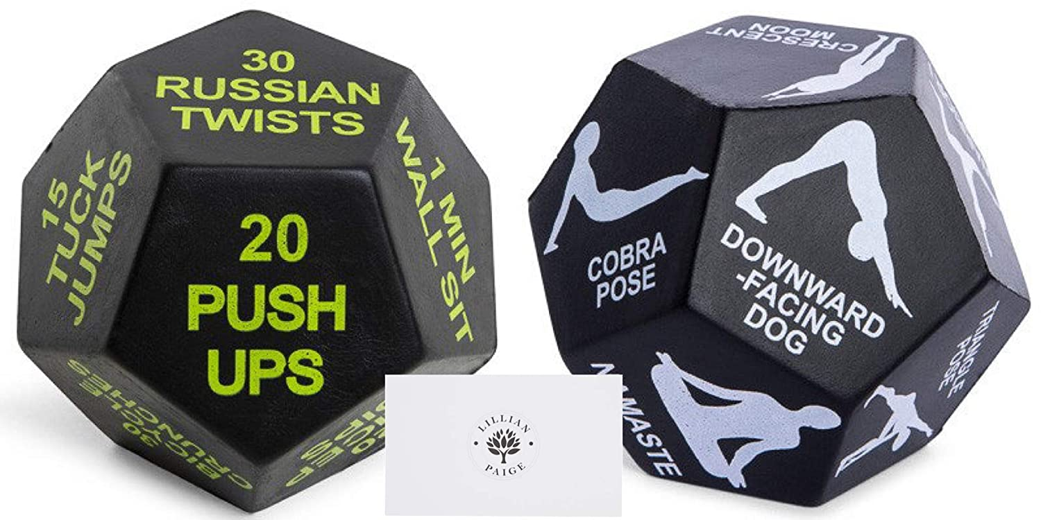 Amazon.com: Juliet Paige Exercise Workout Dice + Yoga Dice ...