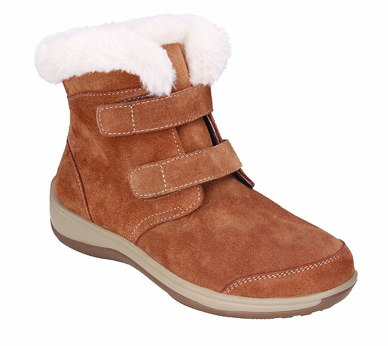 Orthofeet Florence Comfort Heel Pain Flat Feet Plantar Fasciitis Wide Diabetic Orthopedic Women's Boots 8.5 M US