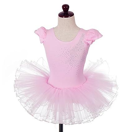 f72478b3a Dressy Daisy Girls' Rhinestones Ballet Tutu Dancewear Dance Leotard Fairy Costume  Size 5-6