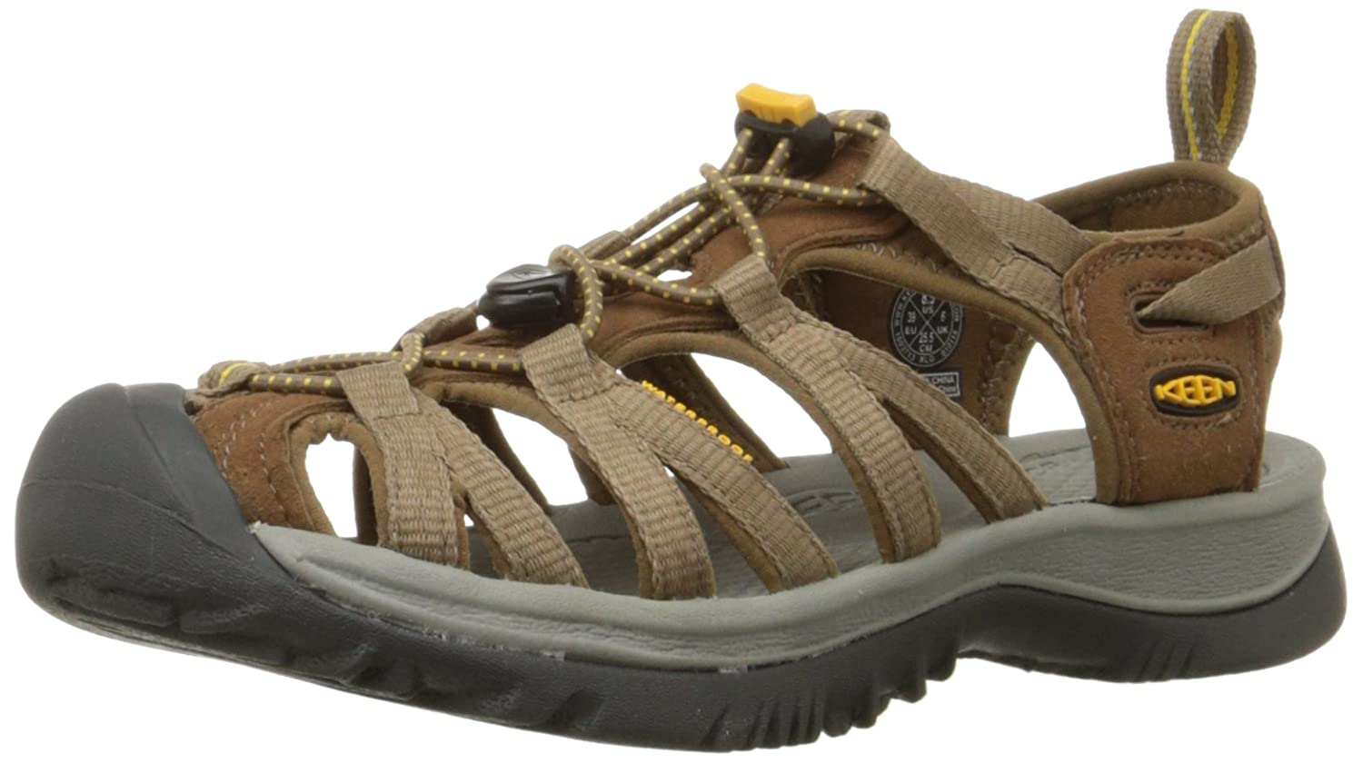 Women's Keen Whisper B003Z4JWD4 7 B(M) US|Coffee Liqueur/Yellow