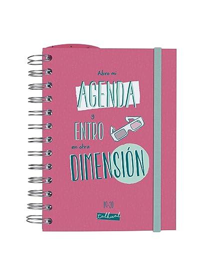 Finocam - Agenda 2019-2020 1 día página formato pequeño (120x169 mm) español Talkual Rosa