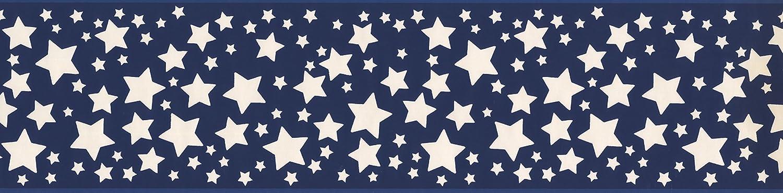 Blue Stars Wallpaper Border