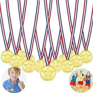 Gewinner Medaillen Gold,Goldmedaillen f/ür Kinder,Medaillen Kindergeburtstag,Medaillen Metall,Gold Medaillen Kinder,Kinder Medaille,Medaillen Fussball,f/ür Kinder Sport Party Wettbewerb Preise