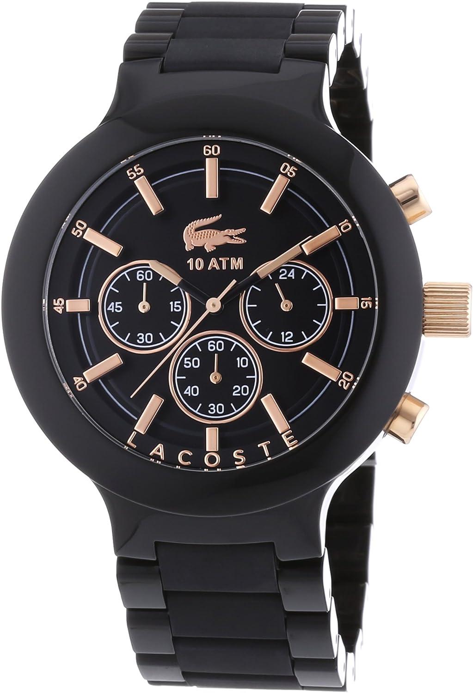 Lacoste Borneo - Reloj de Cuarzo para Hombre, Correa de plástico Color Negro