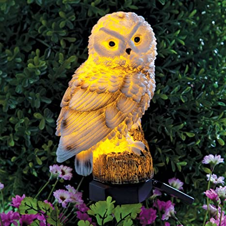 Bits And Pieces   Solar Powered LED Lighted Owl Stake   Garden Décor    Illuminate Any