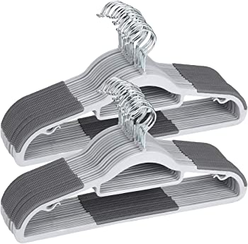 50-Pack Timmy Heavy Duty Dry Wet Clothes Hangers with Non-Slip Pads