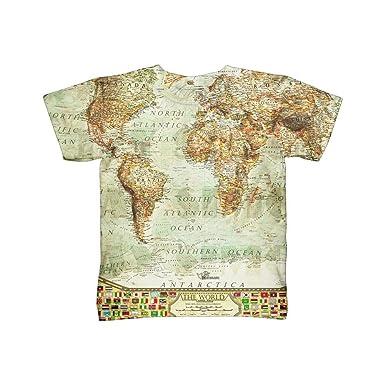 Amazon yizzam ash world map tshirt kids shirt clothing gumiabroncs Gallery