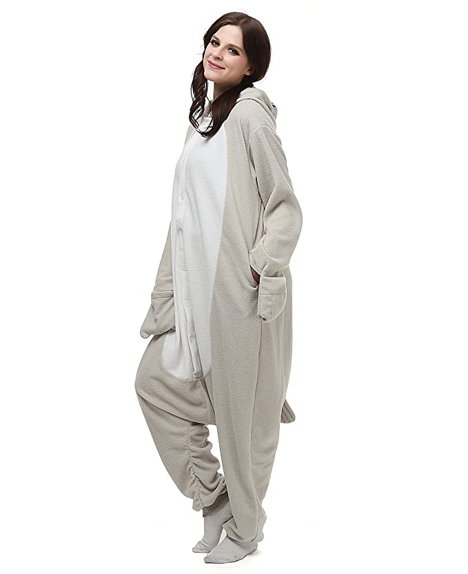 Amazon.com: Adult Oneise Women Mens Animal Koala Onesie Halloween Costume Pajamas Partywear: Clothing