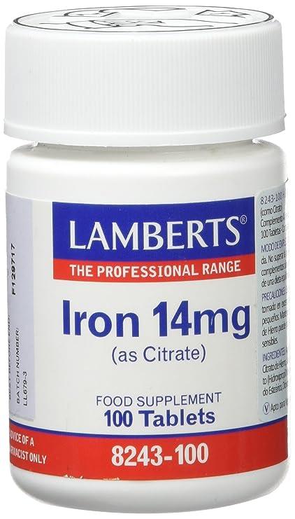 Lamberts Hierro 14mg (como Citrato) - 100 Tabletas