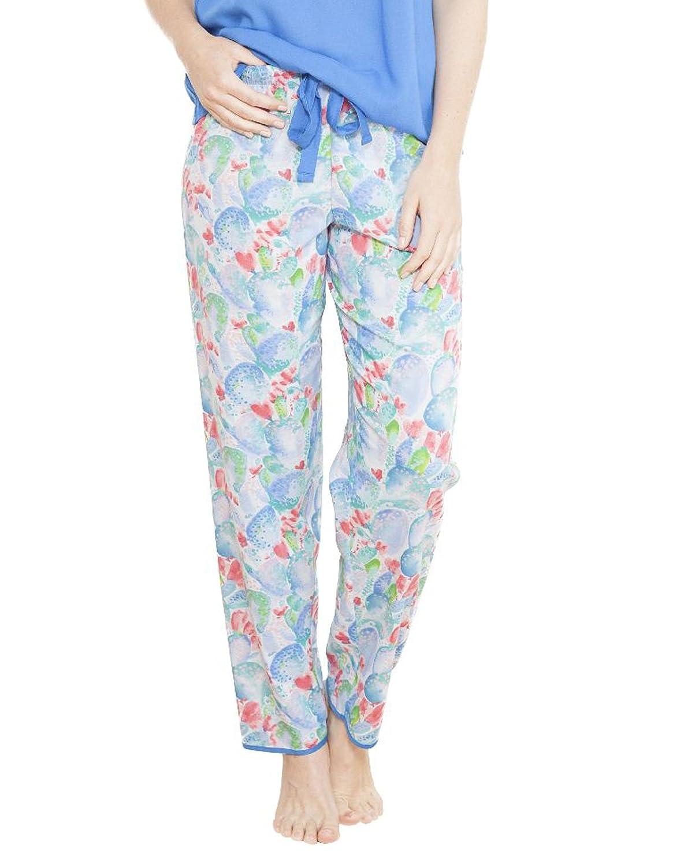 Cyberjammies 3672 Women's Celia Blue Motif Pajama Pyjama Pant