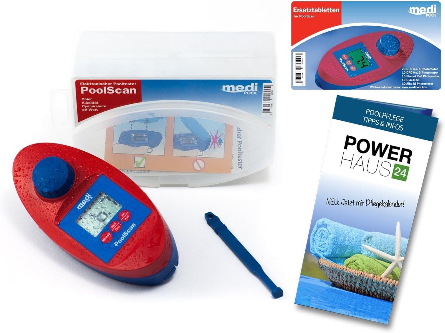Elektronischer Wassertester für Chlor und pH-Wert Pool Messgerät Schwimmba New