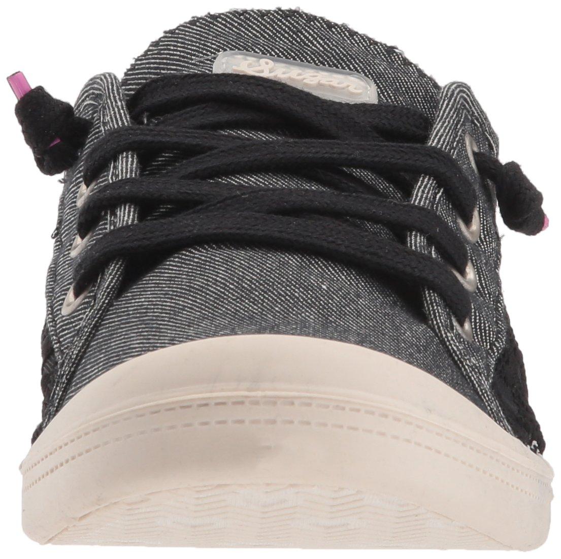 Sugar Women's Genius Casual Fashion Sneaker B0764TJPPS 8 B(M) US|Black Mesh Lace