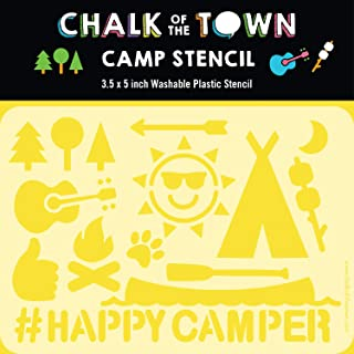 product image for Chalk of the Town Summer Camp Themed Plastic Stencil for Kids