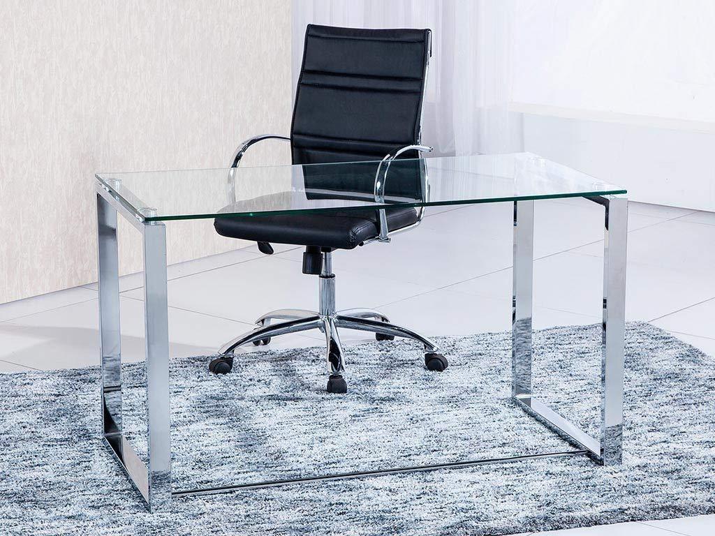 Mesa transparente de estudio Benetto con buena calidad y terminados. Opción de colores.
