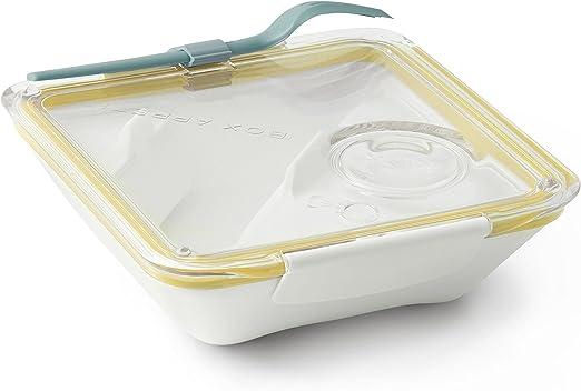 Orange 3 Compartment Munch Box Square Ultra-thin Portable Lunch Box NEW!