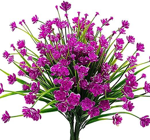 Amazon Com Aitisor Artificial Flowers Fake Outdoor Plants Faux Uv