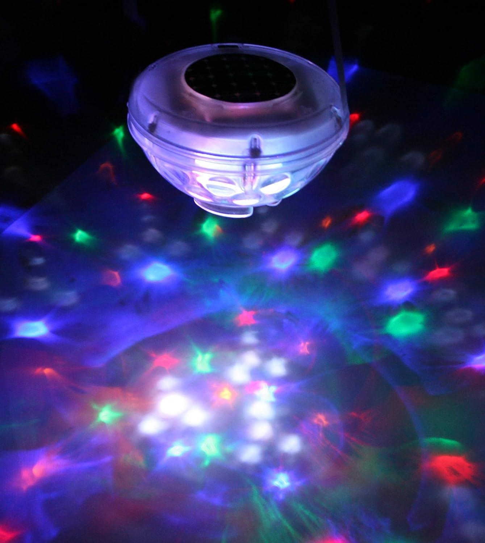 Gre 90173 - Lámpara Solar de Fantasía Led para Jardín y Piscina, 8 Diodos, 7 Programas de Luz