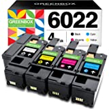 GREENBOX Remanufactured Toner Cartridge Replacement for Xerox WorkCentre 6027 6025 Phaser 6022 6020 (1 Black 106R02759 1 Cyan