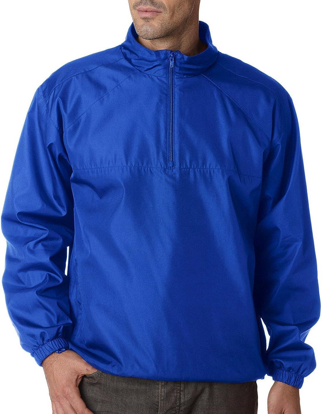 Ultraclub Adult Micro-Poly 1//4-Zip Windshirt