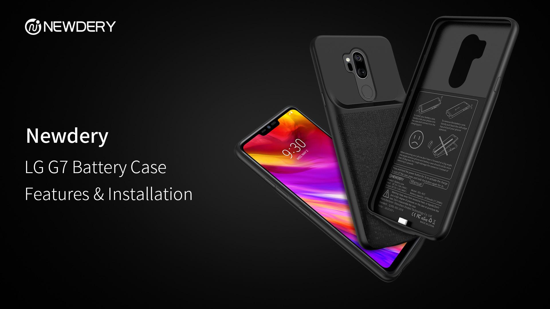 online retailer a64dd 7e22e Newdery LG G7 Thinq Battery Case