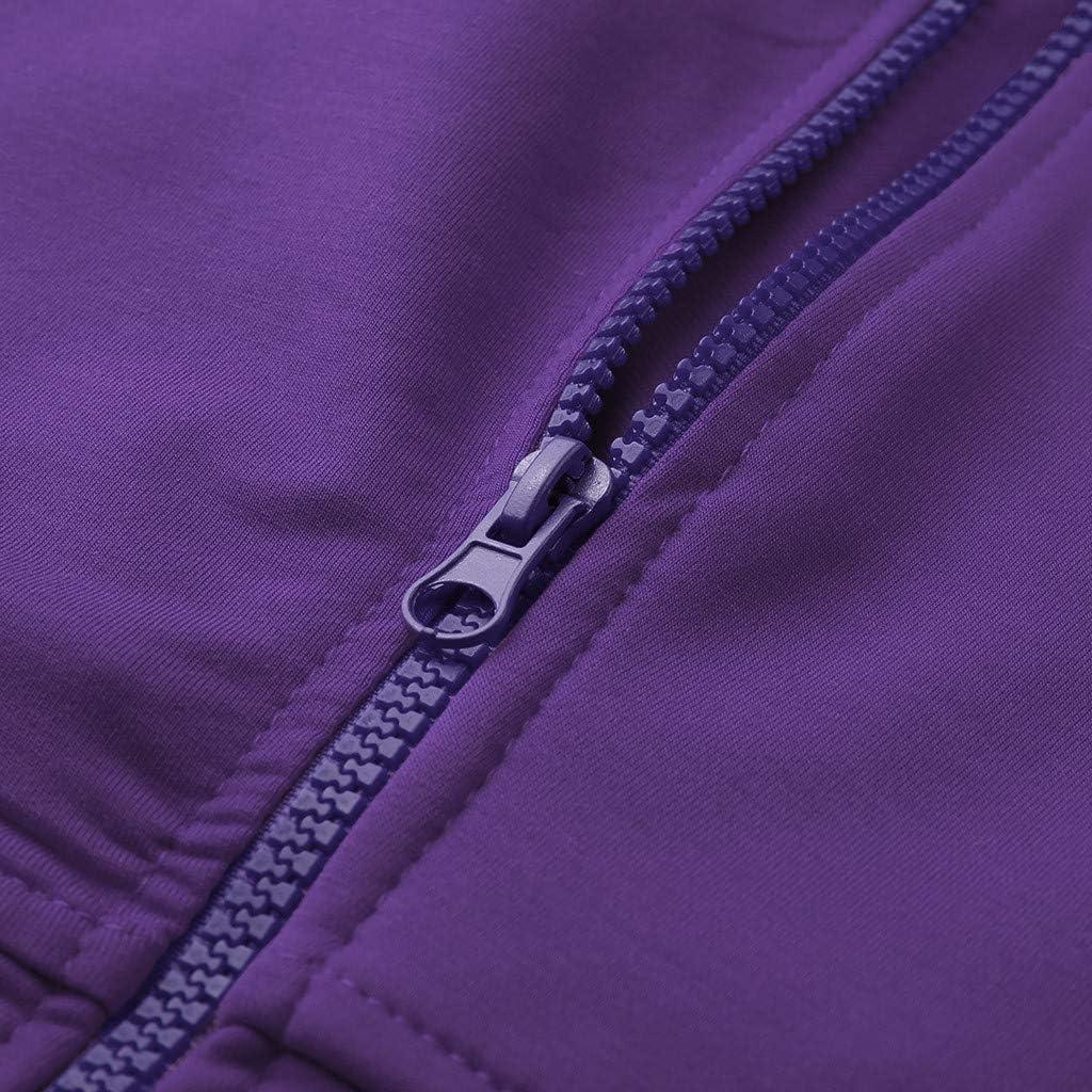 Eoeth Mens Autumn Winter Casual Solid Color Long Sleeve Zipper Hoodie Drawstring Hooded Slim Fit Top Blouse Sweatshirt