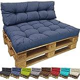 Cuscini Lounge per divano in palet de proheim - Cuscini in diversi formati per divano in palet sia interno che esterno, resistente all' acqua, allo sporco , Colore:Blu scuro, Variante:1 cuscino grande schienale