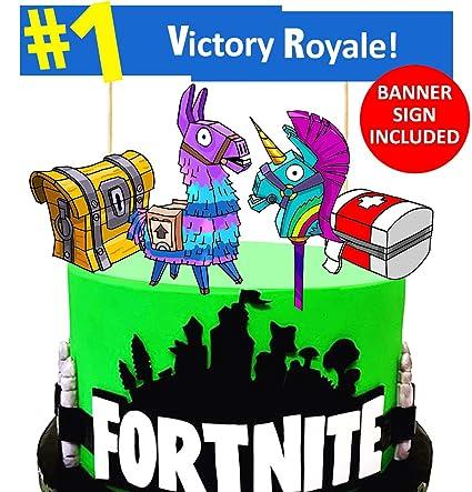 Amazon.com: FORTNITE Cake Topper - Banner Sign Included ...