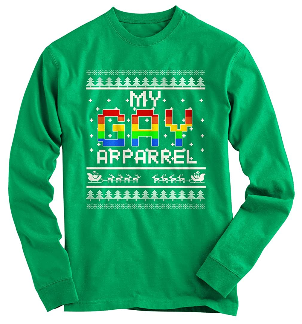 Gnarly Tees Men's My Gay Ugly Christmas Sweater at Amazon Men's ...