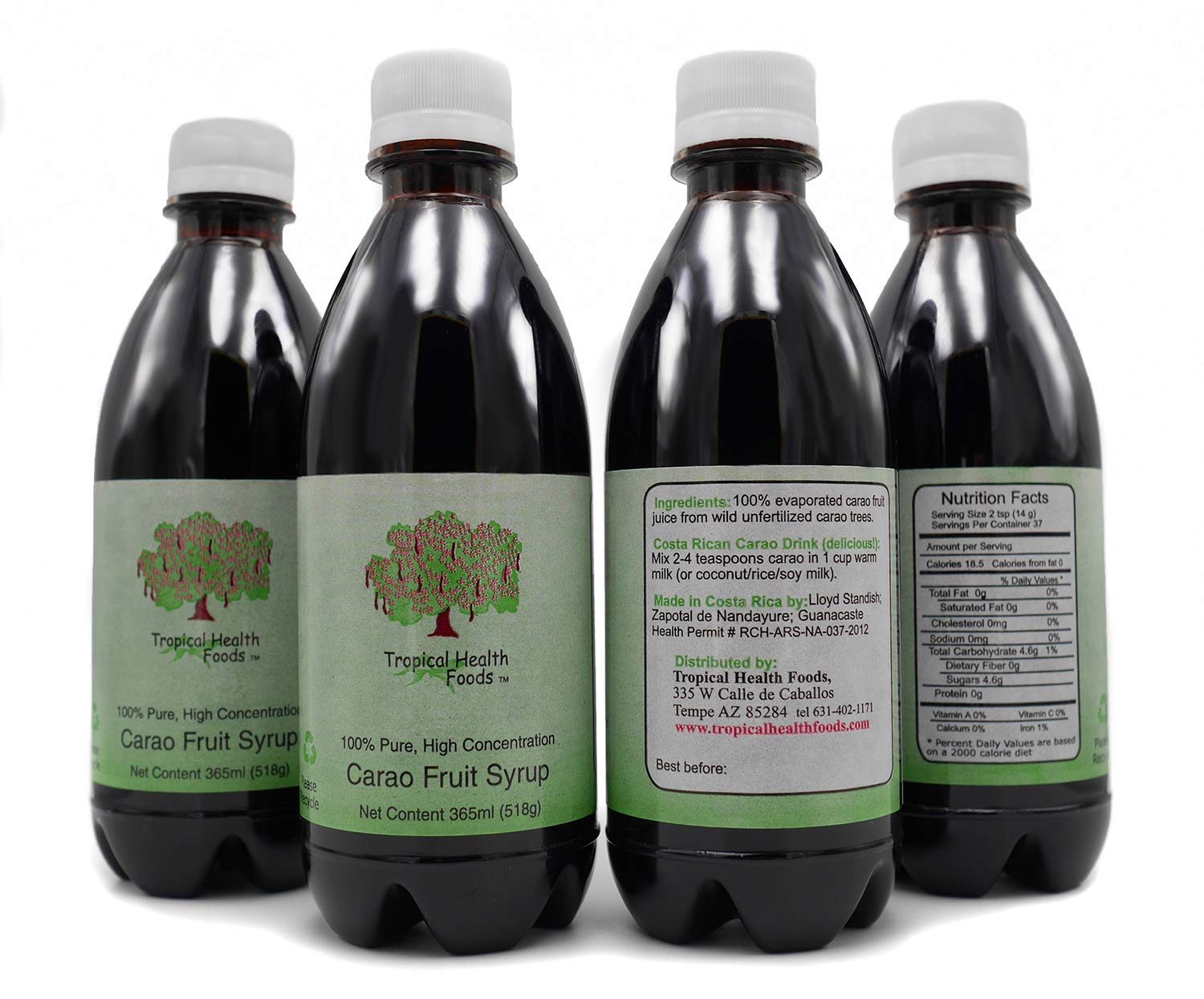 Carao Fruit Extract - Proven Natural Remedy for Anemia - Blood Building Superfood – 4 Bottles