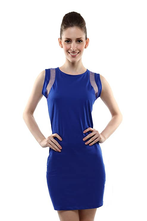 Miss Chase Women's Cotton Bodycon Dress Dresses at amazon