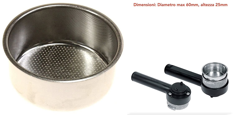 Filtro 2 Dosi para máquina de café espresso manual Saeco ...