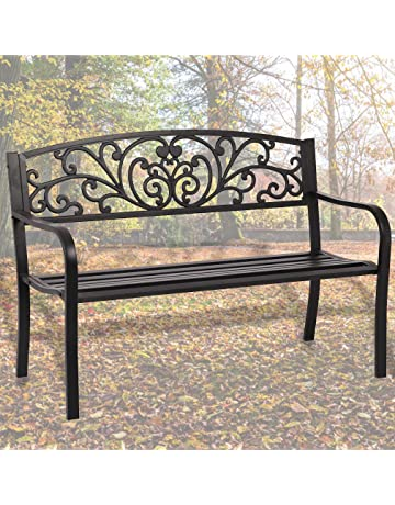 Stupendous Amazon Com Benches Patio Seating Patio Lawn Garden Evergreenethics Interior Chair Design Evergreenethicsorg