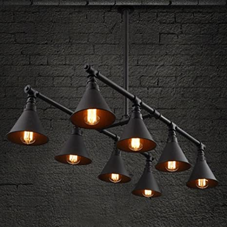 baycheer hl424128 vintage industrial style 8 light large pipe indoor