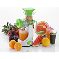 FlixShine Super Deluxe ABS Plastic and Polycarbonate Strong Vacuum Unbreakable Manual Juicer for Fruit, Wheatgrass and Vegetable(Multicolour)
