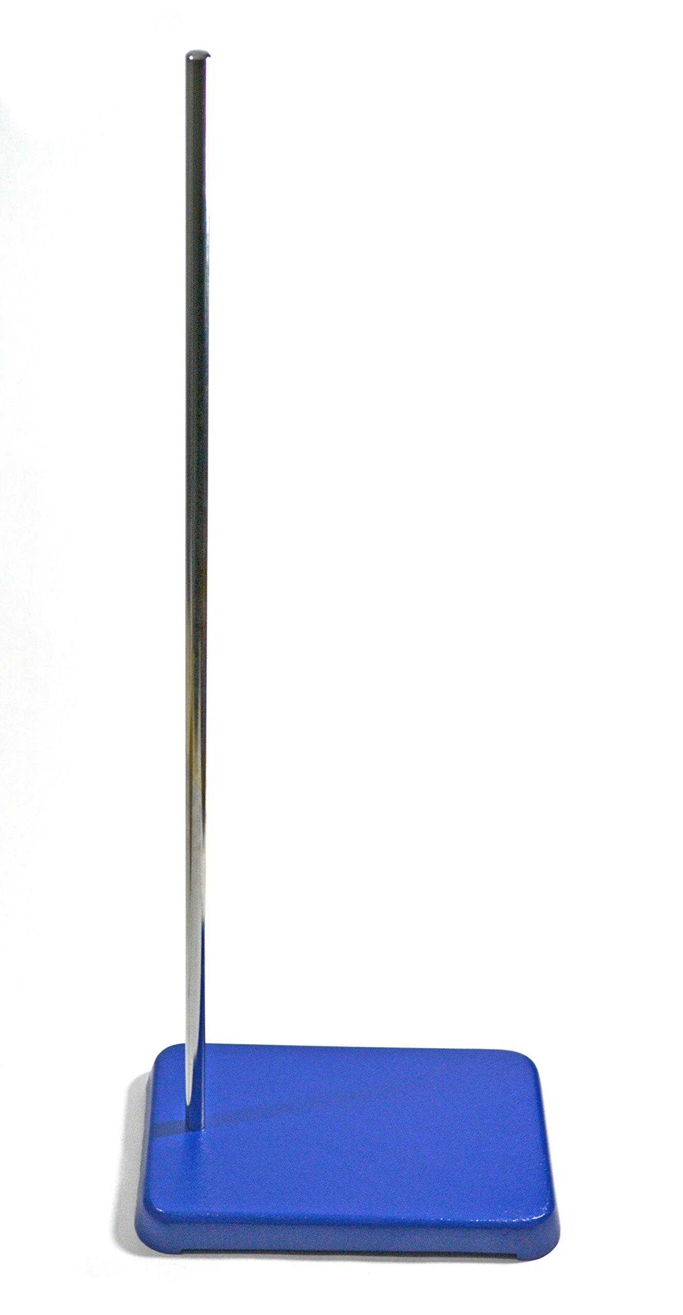 Eisco Labs Heavy Duty 6'' X 9'' Large Retort Base w/ 24'' (.4'' dia) Rod