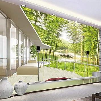 Fototapete Foto Benutzerdefinierte Fototapete 3D Bambus Wald ...
