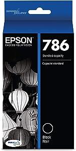 Epson T786120 DURABrite Ultra Standard-Capacity Ink Cartridge, Black, T786120-S