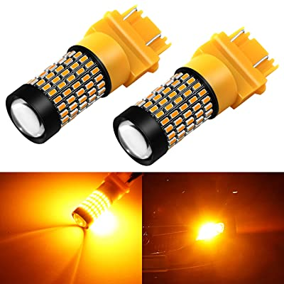 Phinlion 4157 3157 LED Turn Signal Light Bulbs 2800 Lumens Super Bright 3014 103-SMD 3057 3457 4057 3156 LED Bulb for Turn Signal Blinker Lights, Amber Yellow: Automotive
