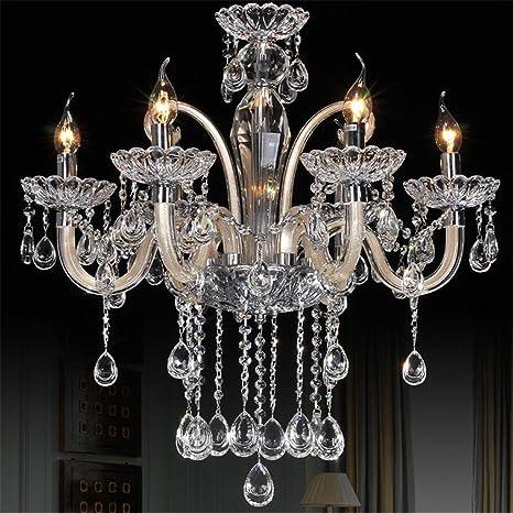 Lámparas de araña Lujoso Cristal 6Arm Candelabro Luces de ...