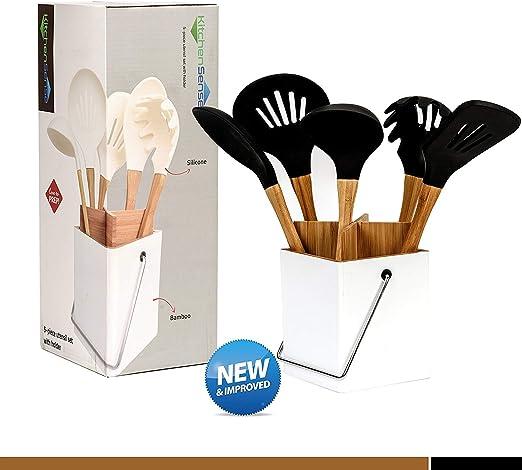 Long Handle Wood Spoon Wooden Cooking Cookware Kitchen Gadget Tool