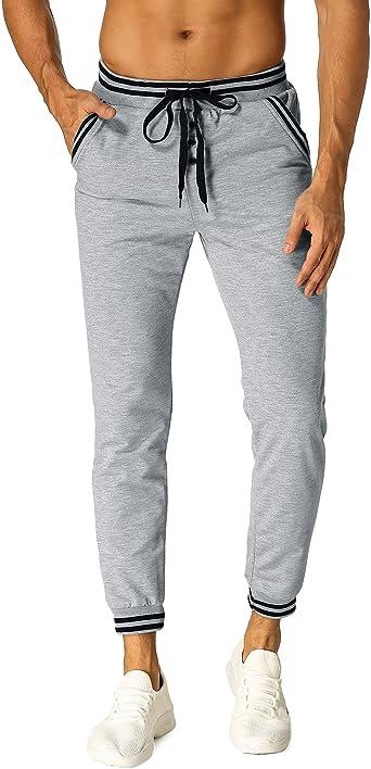 MODCHOK Hombre Pantalones Largos Chándal Cargo Jogging Chino ...