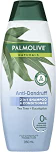 Palmolive Naturals Anti Dandruff 2 in 1 Hair Shampoo and Conditioner Tea Tree and Eucalyptus, 350mL