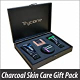 TRYCONE CHARCOAL PEEL OFF MASK, CHARCOAL FACE WASH, CHARCOAL SCRUB AND CHARCOAL SOAP FOR MEN AND WOMEN (Activated Charcoal Skincare Combo Pack Of 4) CHARCOAL KIT FOR GIFT