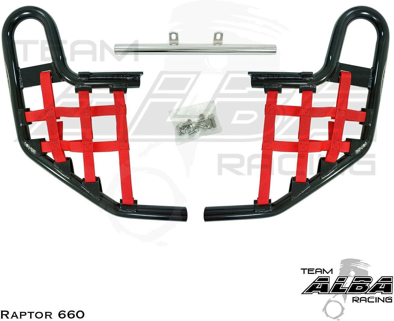 Yamaha Raptor 660 YFM 660 Nerf Bars Alba Racing Black Red 203 T1 BR