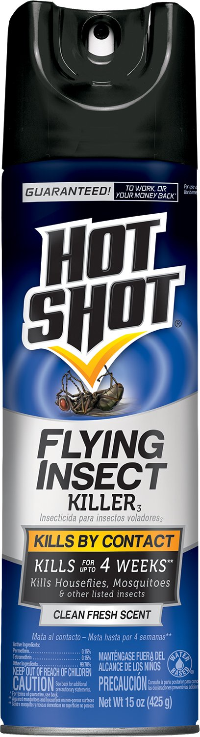 Hot Shot 66310-1 AC1686 Flying Insect Killer Aerosol, 15-Ounce, Pack of 6 by Hot Shot
