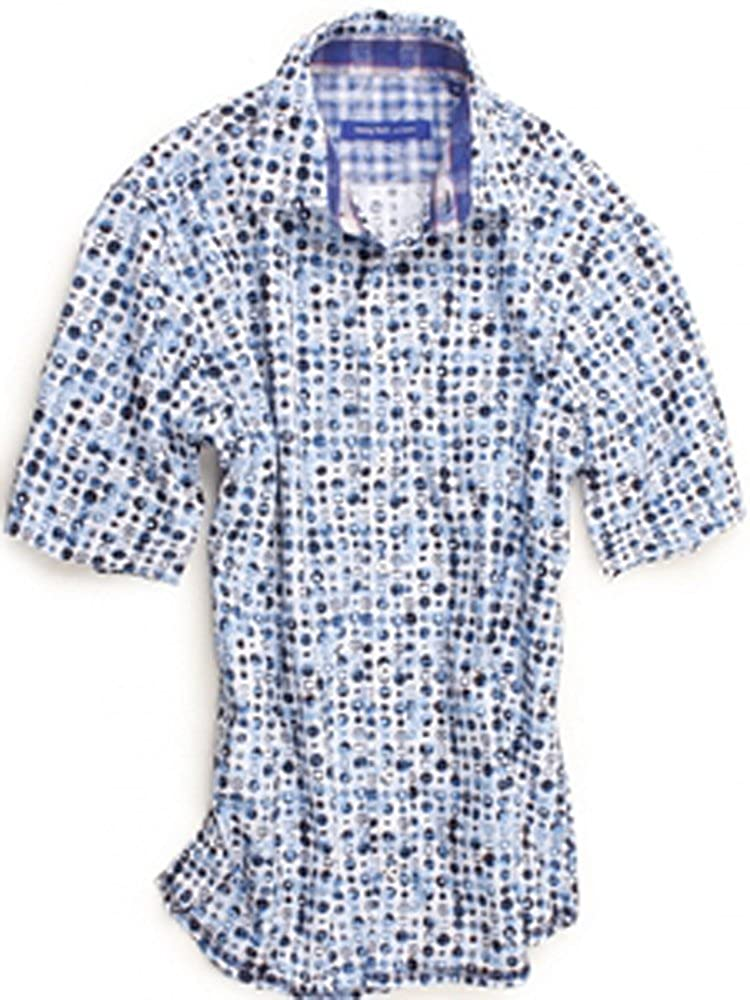 Georg redh Los Angeles White & bluee Mini Motif Print Rimini Short Sleeves Shirt